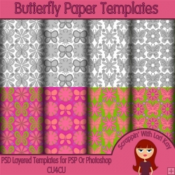 Butterfly Layered Paper Templates