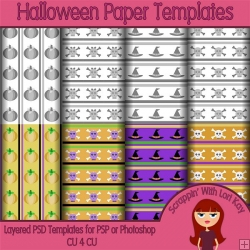 Halloween Layered Paper Templates