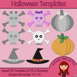 Halloween Layered Templates