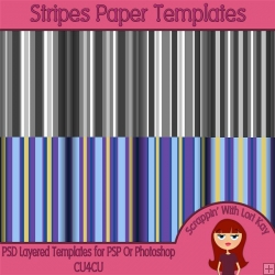 Stripes Layered Paper Templates