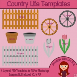 Country Life Layered Templates