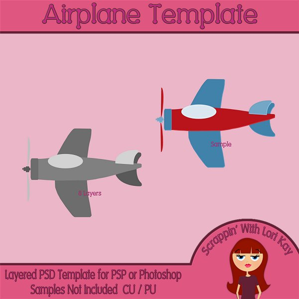 Airplane Layered Template
