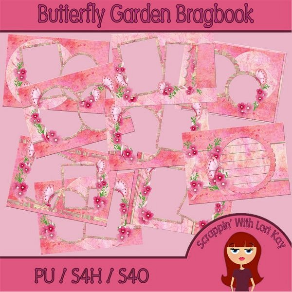 Butterfly Garden Brag Book - Click Image to Close