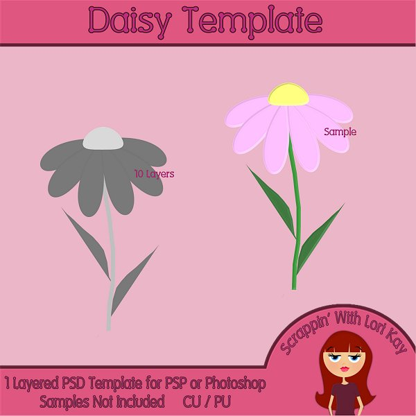 Daisy Layered Template