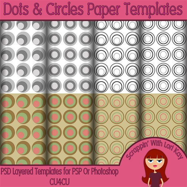 Dots & Circles Layered Paper Templates