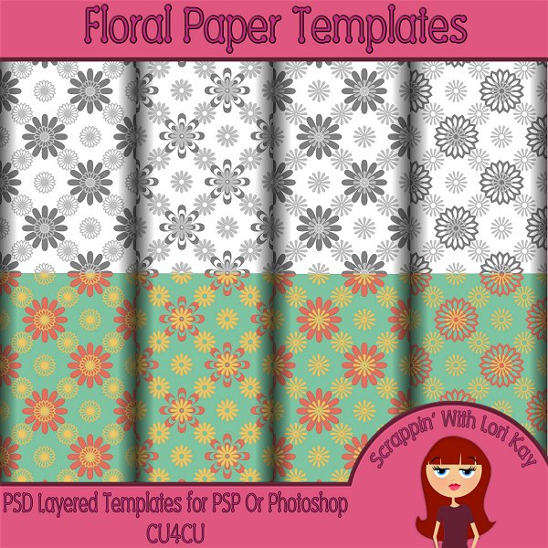 Floral Layered Paper Templates