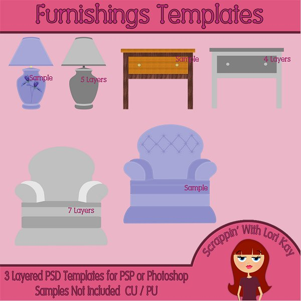 Furnishings Layered Templates