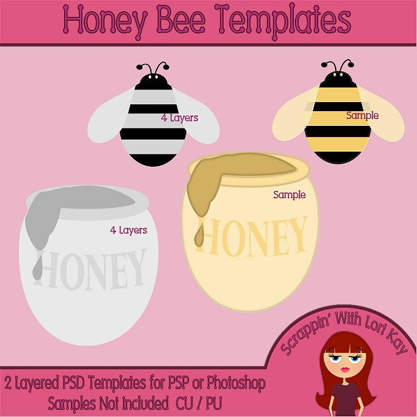 Honey Bee Layered Templates